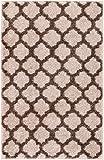 "HomeWay Pattern Rugs – Fine Trellis Lattice Modern Area Rug Natural 20"" x 31"" Doormat Bath Mat Carpet"