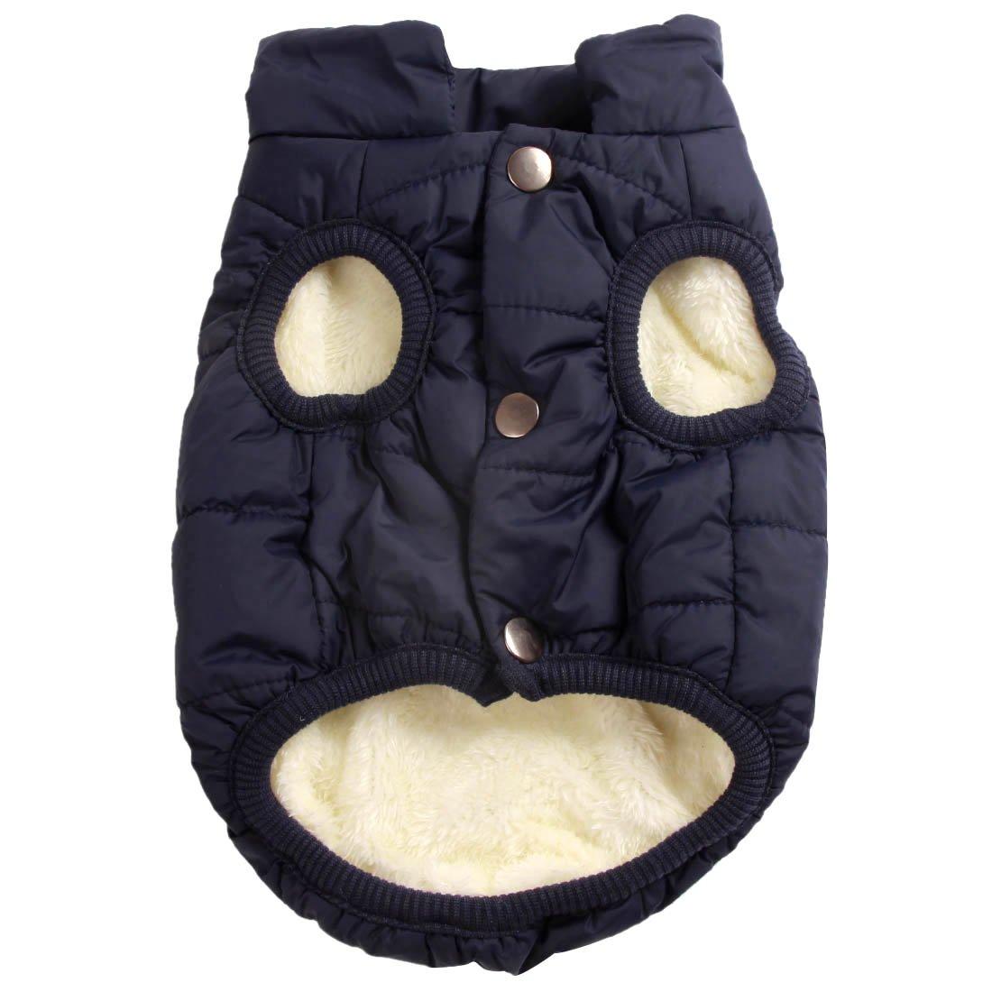 Extra Doux Chiot chien Joydaog Gilet coupe-vent Manteau pour chien 2/couches avec doublure polaire super chaud pour lhiver par temps froid Rouge