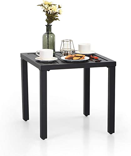 Sophia William Outdoor End Table Black Small Metal Side Table