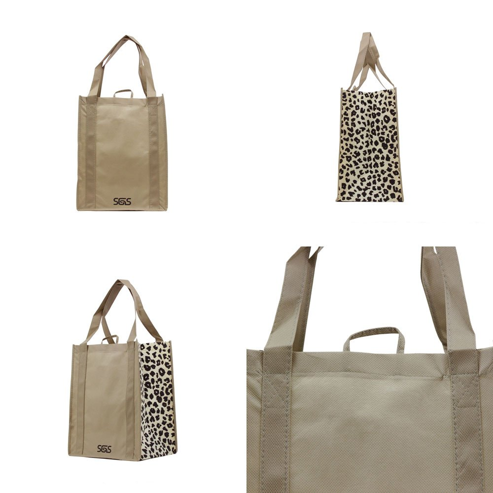 Animal - Graphic Pattern Prints - Reusable Reinforced Tote Bags - Set of 4 by Simply Green Solutions (Image #3)