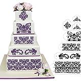 HULISEN 7Pcs Cake Decorating Stencil Mold Wedding Cake Stencil, Cake Mould