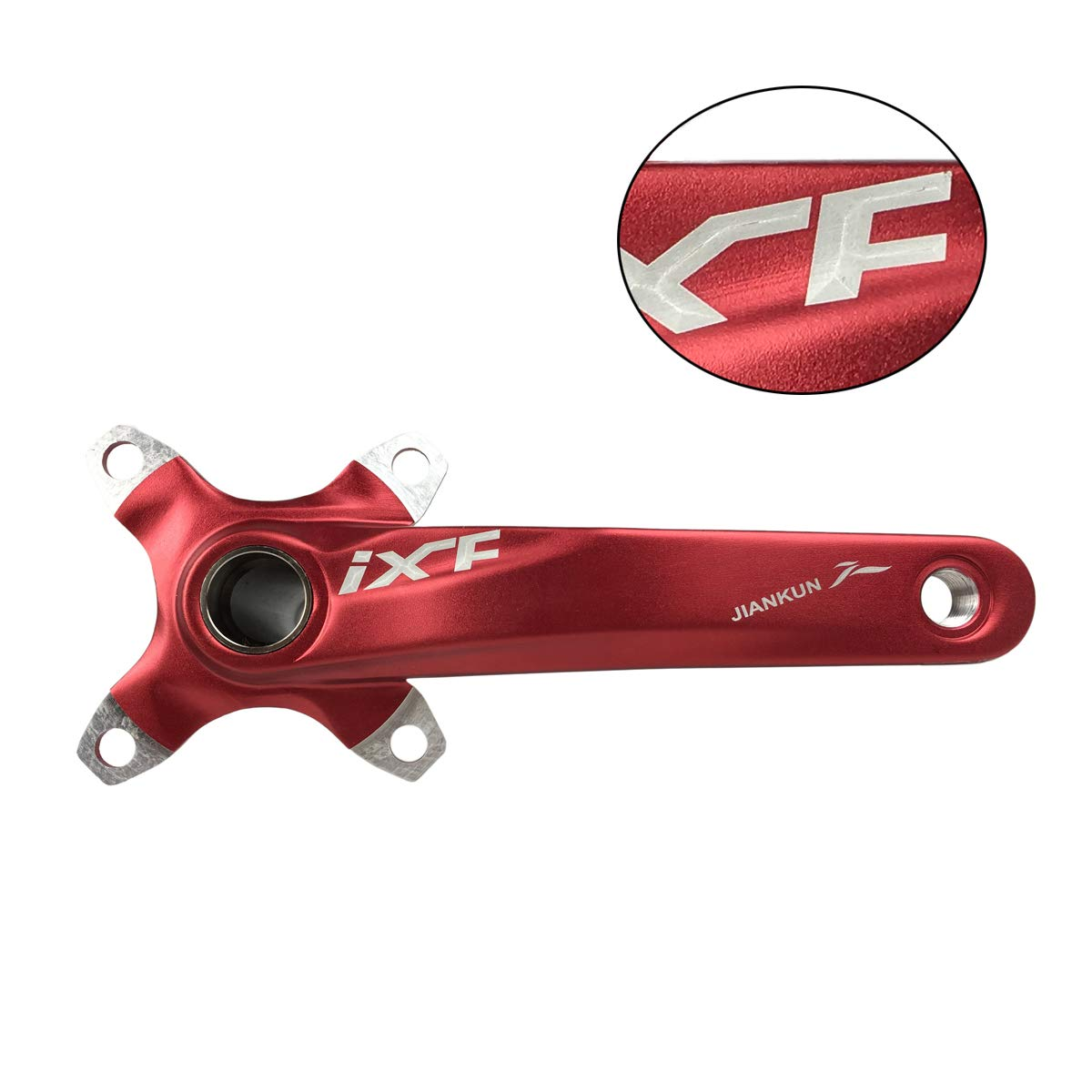 FSA Black//Red//Silver Compatible with Shimano BNVB Bike Crank Arm Set, 170mm 104 BCD Mountain Bike Crank Set with Bottom Bracket Crank and Chainring Bolts for MTB BMX Road Bicyle Gaint