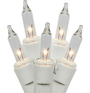 set of 100 clear mini twinkle christmas lights white wire - Random Twinkle Christmas Lights