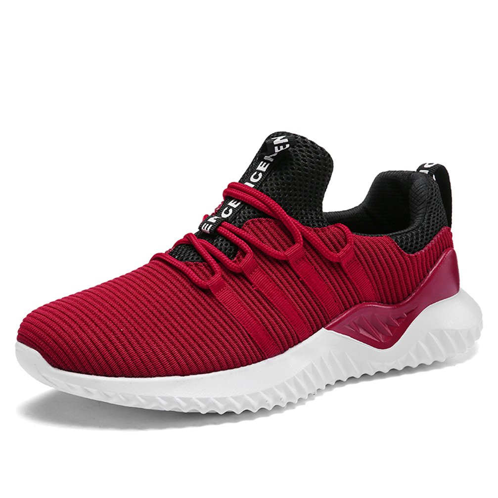 KUBUA Mens Running Shoes Indoor and Outdoor Sport Athietic Fitness Fashion Sneaker Casual White Black B07D5DWNK5 EU 46 / 12 D(M) US|E Red
