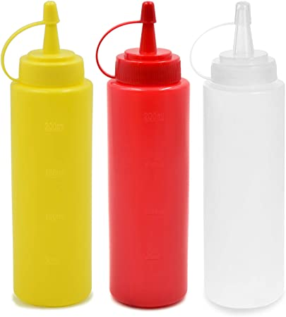 Miel clair Bouteille Squeeze Condiments Distributeur Ketchup sauce à la moutarde