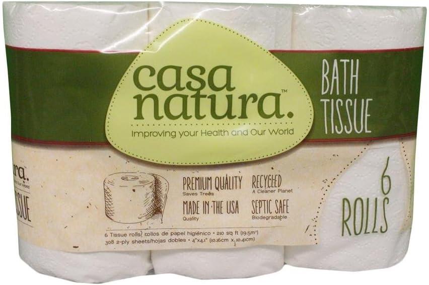 Casa Natura 100% Tissue Biodegradable Bath 6 Pack: Amazon.es: Hogar