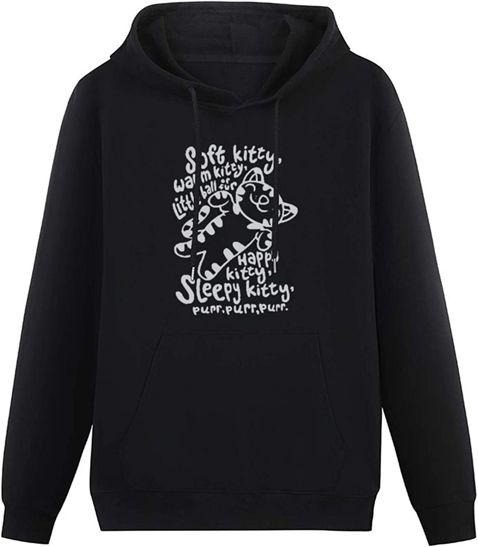 Fuzhou Mens HeavyweightHooded Big Bang Theory Soft Kitty Lyrics Lidi Hoodies Long Sleeve Pullover Loose Hoody Sweatershirt with SweatshirtHoodie