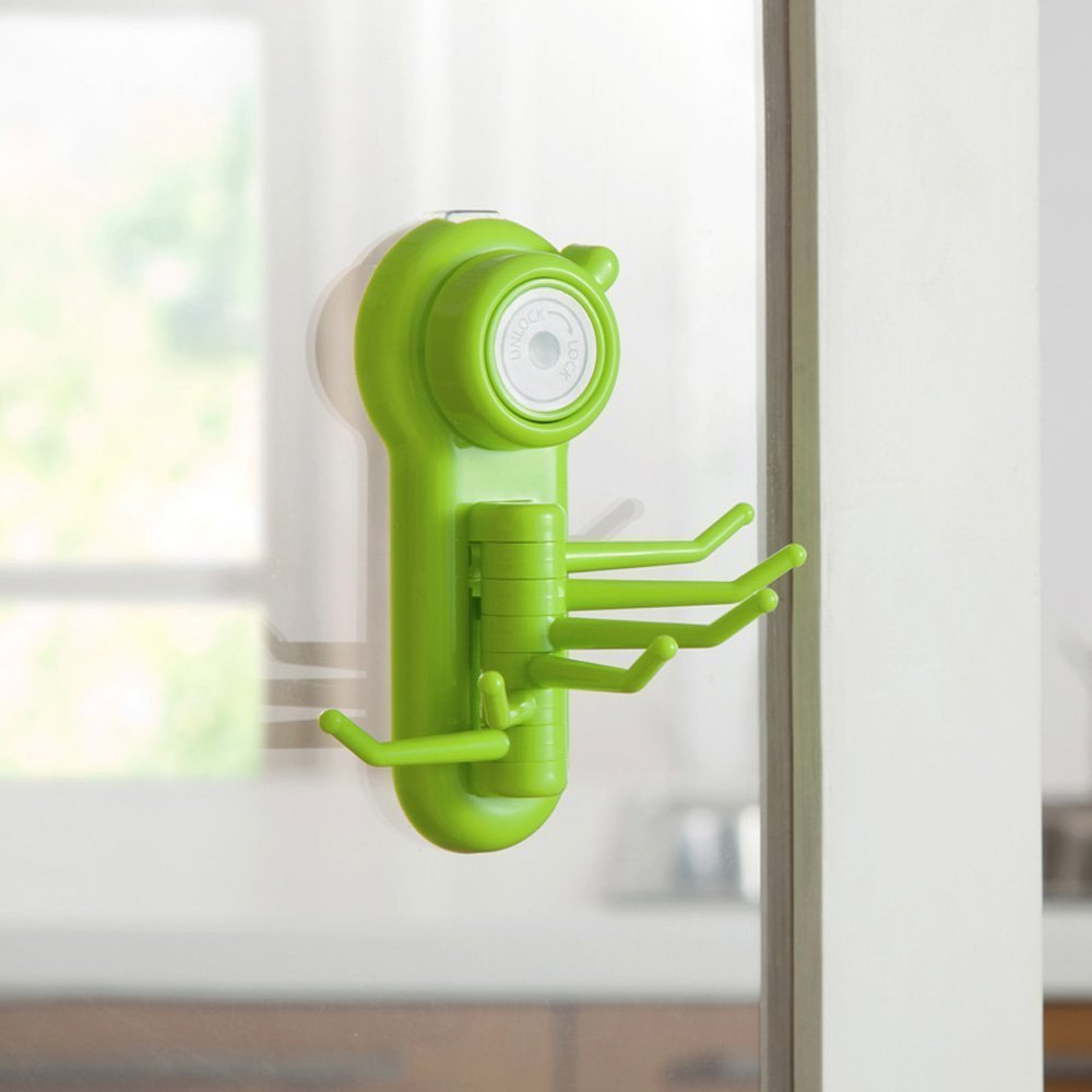 Home Cube® 6 Hook Hanger Suction Cup Wall Vacuum For Bathroom Key Towel  Scrubber Holder   1Pc (Random Color): Amazon.in: Home U0026 Kitchen
