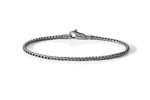 8f4b6c8e5c56 U77 pulsera de plata 925 con cadena tipo Franco y cierre a mosquetón. El  futuro
