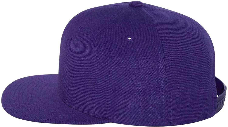 98f194e60 Wholesale Wool Blend Flexfit Yupoong Flat Bill Blank Snapback Hats w/ Green  Underbill (Purple) - 20587