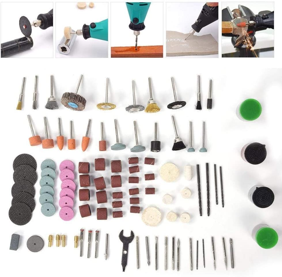 Beennex 169Pcs Electric Grinding Accessories Polishing Rotating Engraving Parts for Electric Drill