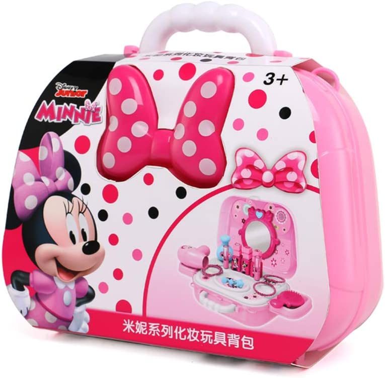 Handley-1 Disney Makeup Toy, 16 Pcs Minnie Mouse Play House Cosmetic Case Pretend Play Set Beauty Toys for Girls
