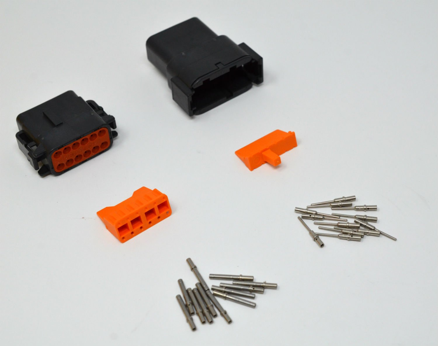 Deutsch DTM 12-pin Black Connector Kit 20AWG Solid Contacts