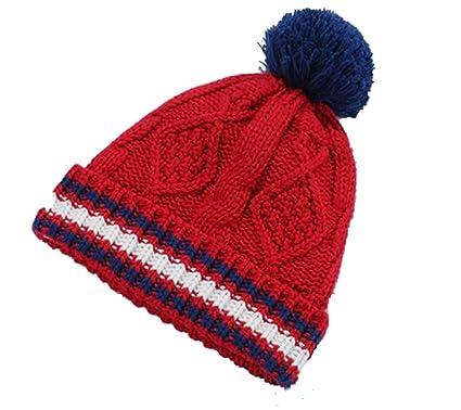 d07b04213f18 OHmais Automne Hiver Bonnet bébé oreilles chapeau rouge pour bébé fille  garçon size S