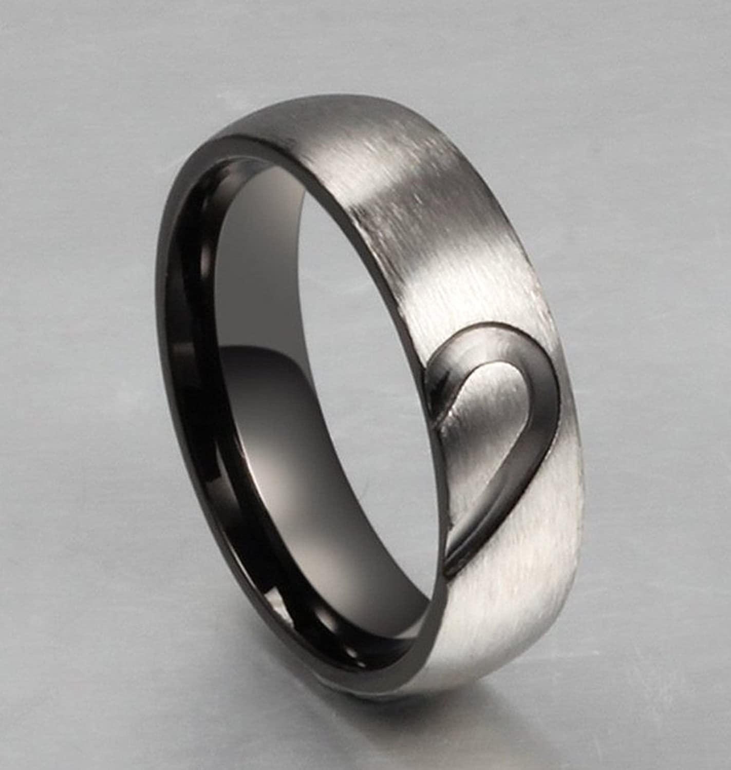 Amazon Aegean Jewelry Titanium Couple Fashion Wedding Band