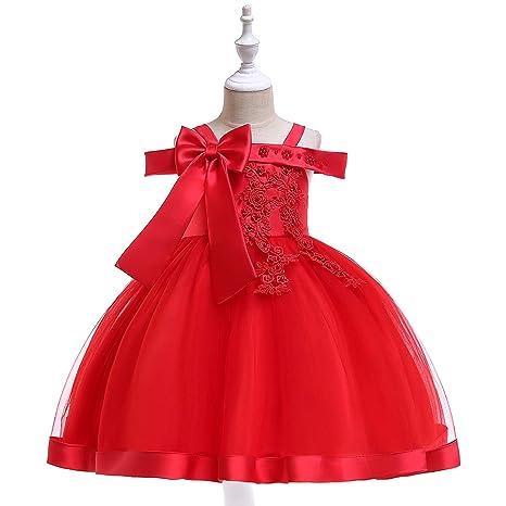 Amazon.com: 3 – 9 años niños apliques flor niña vestidos ...