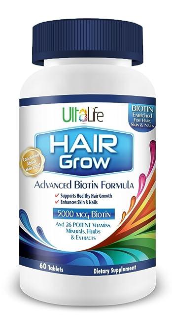 Amazon Com 1 Best Hair Grow Advanced Biotin Hair Grow Supplement