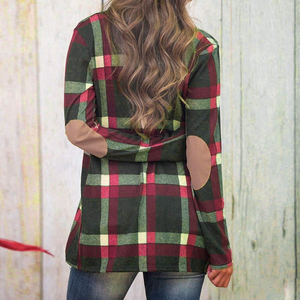 Sleeveless Jean Jacket Women Black,Women Plaid Long Sleeve Pullover Blouse Open Front Jacket Coat Outerwear