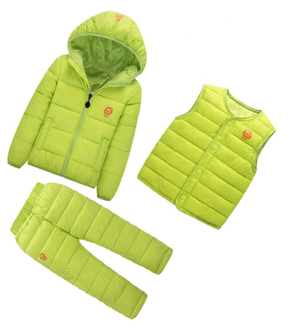 Baby Lightly Quilted Cotton Paded Sleeveless Vest Suit Down Jacket Coat for 2-3 Years Girls Boys Baby Soft Silky Lined Winter Warm Green by Ohrwurm