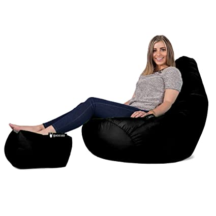 combo rockyard bean bag xxxl with footrest puffy without filling