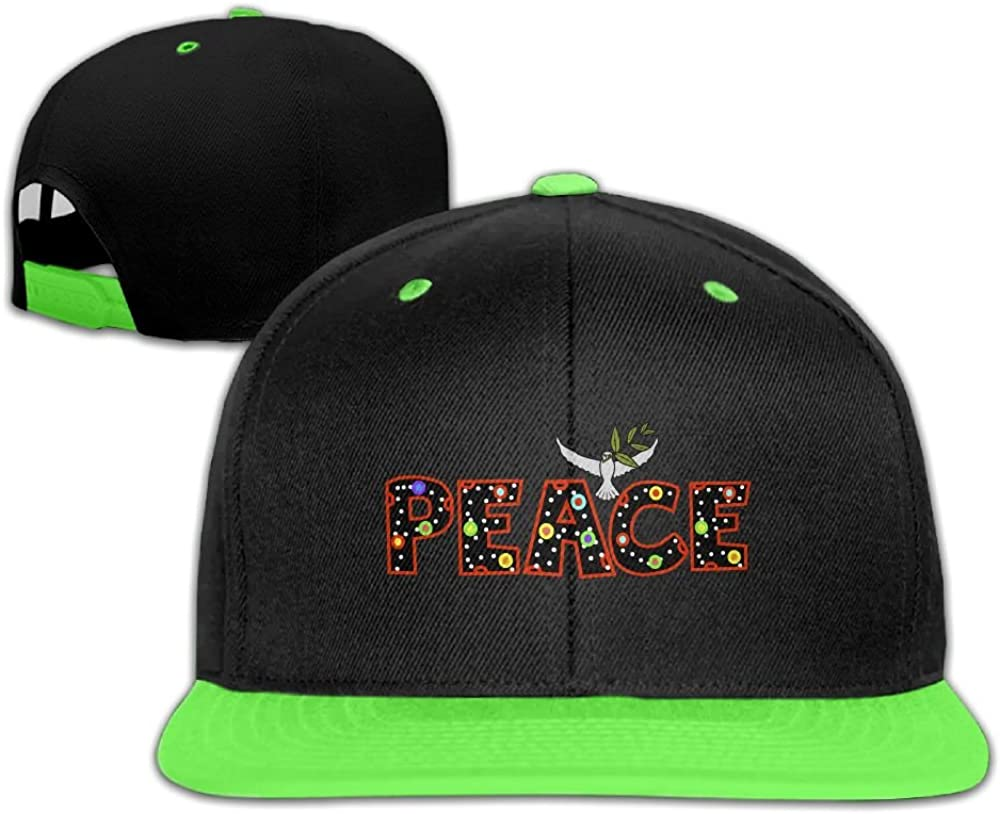 GUOFULIN Leave Peace Adjustable Snapback Kids Hip Hop Hat Baseball Cap