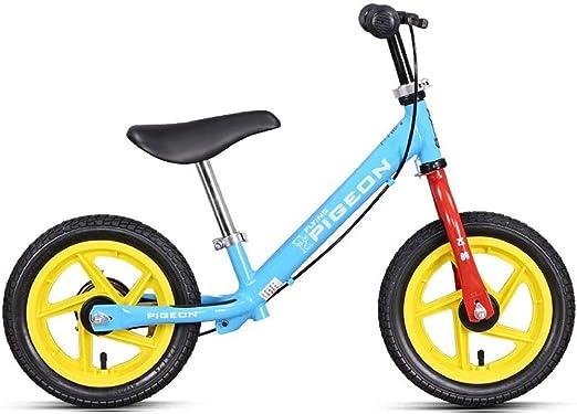 Bicicleta sin pedales Bici Bicicleta Blue Balance con Freno de Mano: Regalo de cumpleaños para niños, Bicicleta de Entrenamiento Ligera, 2/3/4/5/6 años: Amazon.es: Hogar