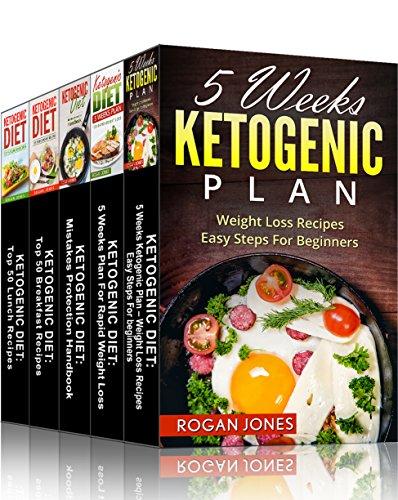 Ketogenic Cooking: 5-in-1 Box Set Ketogenic Diet Books (Ketogenic Diet, Ketogenic Plan, Weight Loss, Weight Loss Diet,Beginners Guide) by Rogan Jones