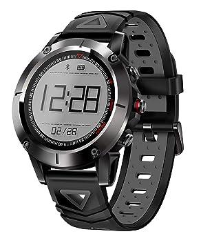 G01 GPS Reloj Inteligente Hombres IP68 A Prueba De Agua Presión Bluetooth Reloj Bluetooth Deportes Brújula Smartwatch para Android iOS,Blackgray: Amazon.es: ...