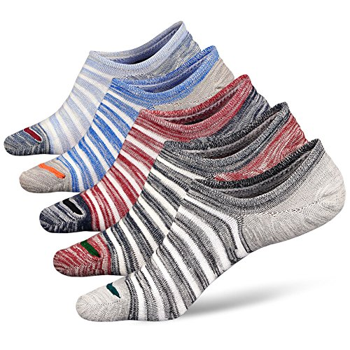 Mens No Show Ankle Socks Cotton Rich Trainer Liner For Running Invisible Low Cut Stripe Socks Shoe Size 6-11
