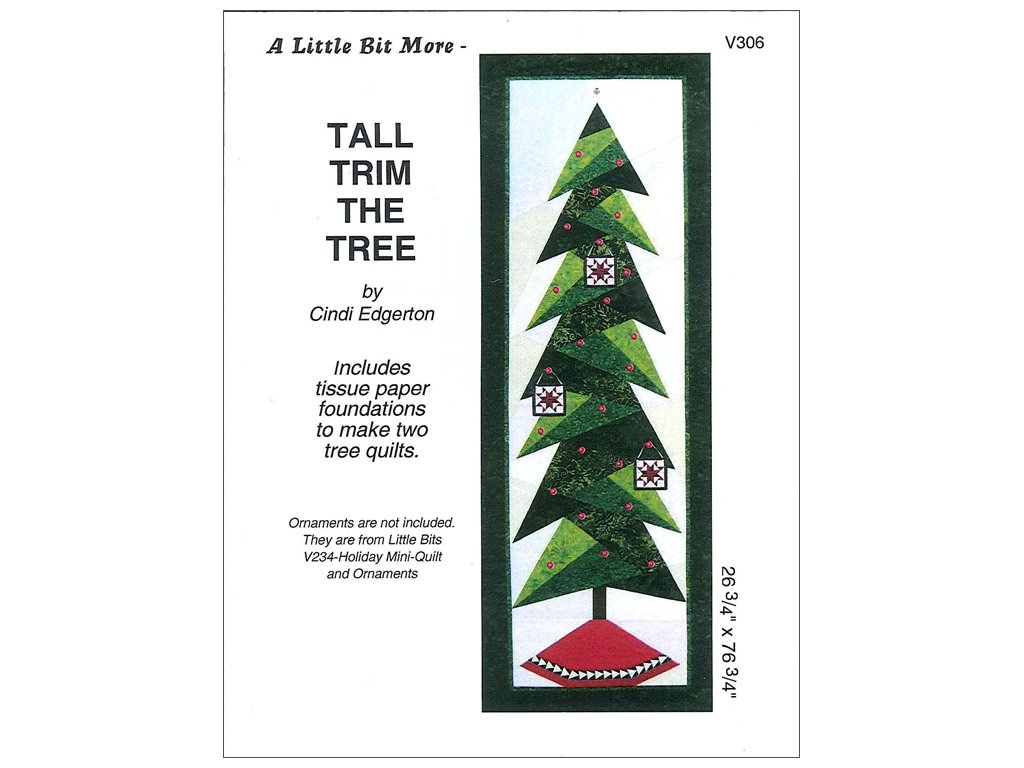 Tall Trim The Tree Pattern A Little Bit More