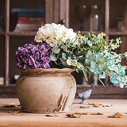ZHUDJ Ramos Ramos De Mano Decorado Con Motivos Florales Con Mesa De Comedor En El Salón