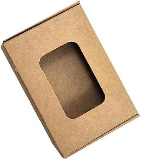 Caja hueca rectangular de papel kraft marrón (2.83 x 1.96 x 0.78 pulgadas) caja de papel plegable para jabón, cajas de regalo pequeñas, caja de cartón para manualidades, 50 unidades: Amazon.es: Juguetes y juegos