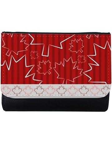 DIYthinker Maple Leaf Textur Juli 4 Gl/ücklicher Kanada-Tag Multi-Funktions-Leder-Mappen-Karten-Geldbeutel-Geschenk Mehrfarbig