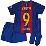 2016-2017 Barcelona Home Nike Little Boys Mini Kit