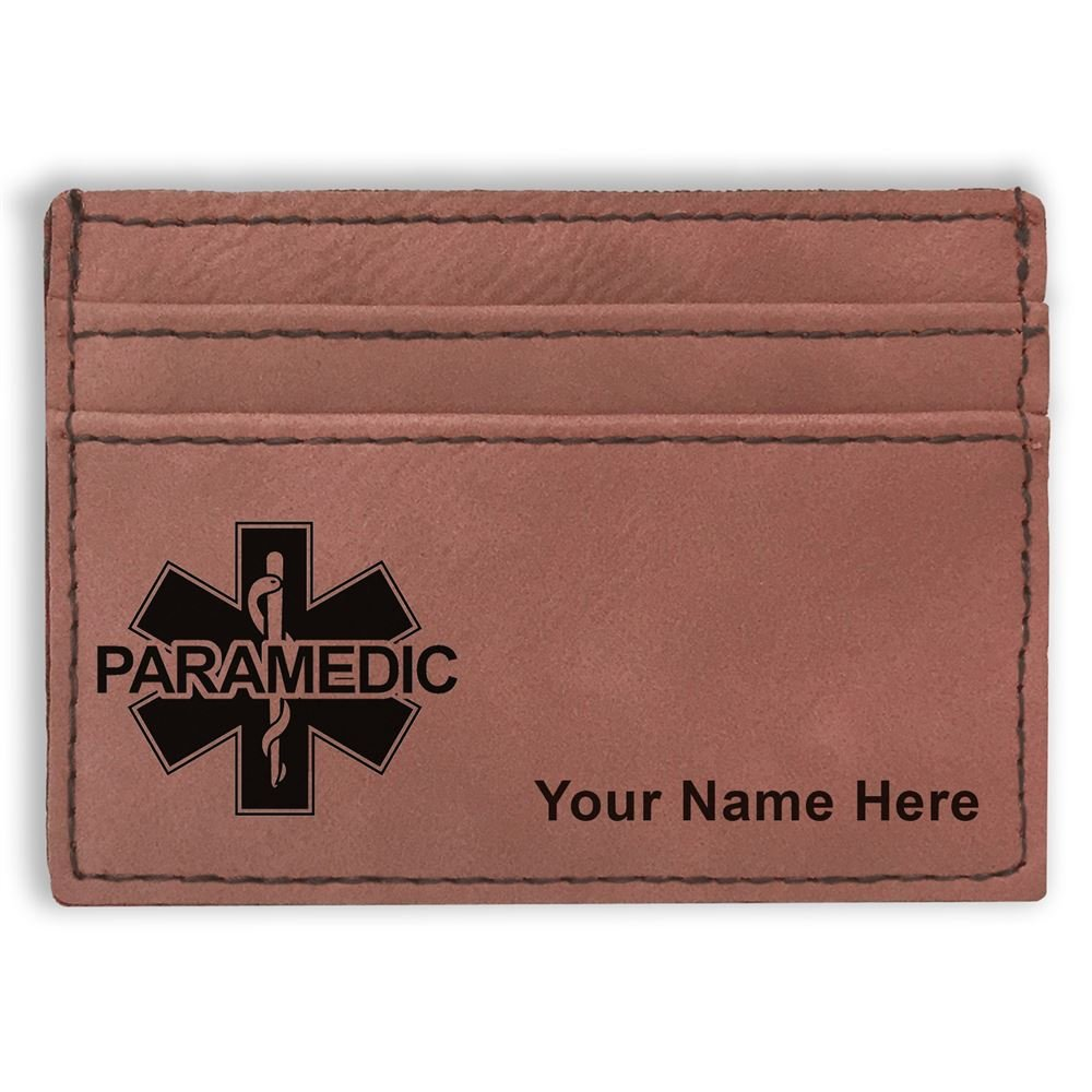 Personalized Engraving Included Paramedic Money Clip Wallet