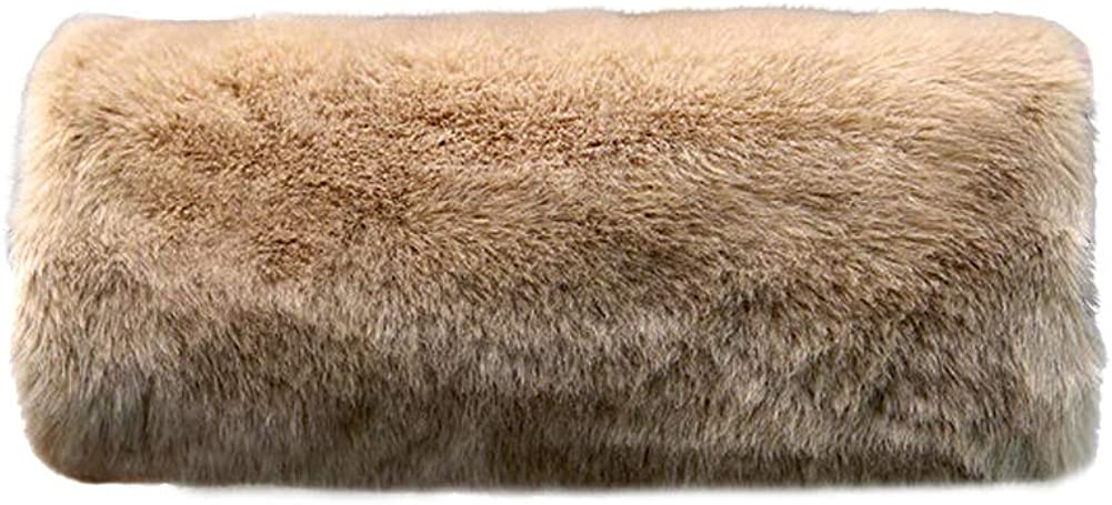 Wed2BB Faux Fur Hand Muffs Women Warm Faux Fur Muffs Khaki