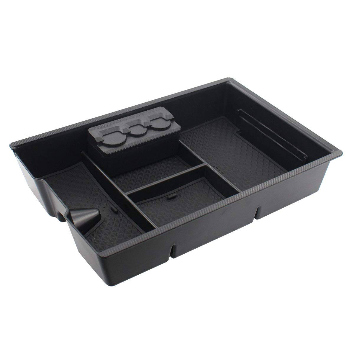 XtremeAmazing Lower Center Console Insert Organizer Armrest Secondary Storage Box Container Glove Pallet Tray with Coin Holder
