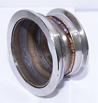 2.5 To 3 V Band Turbo Flange Adexhaust Manifold Converter Flange Adaptor Steel