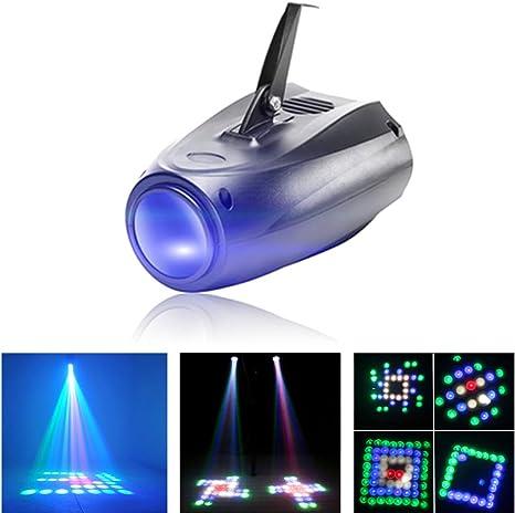 UKing Luz de Escenario, Lámpara de Proyector de Patrón 64 LED RGBW ...