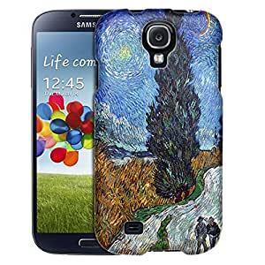 Samsung Galaxy S4 Case, Slim Fit Snap On Cover by Trek Van Gogh Country Road in Provence by Night Case