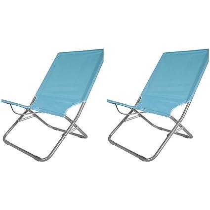 Juego de sillas de playa plegables, dos unidades, materiales ...