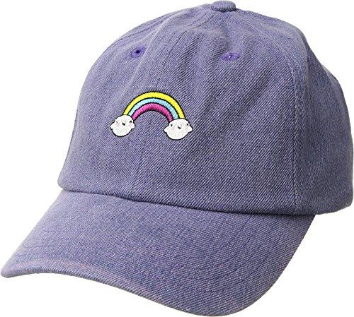 (San Diego Hat Company Kids Girl's Rainbow Dad Cap (Little Kids/Big Kids) Lavender 5-7 Years)
