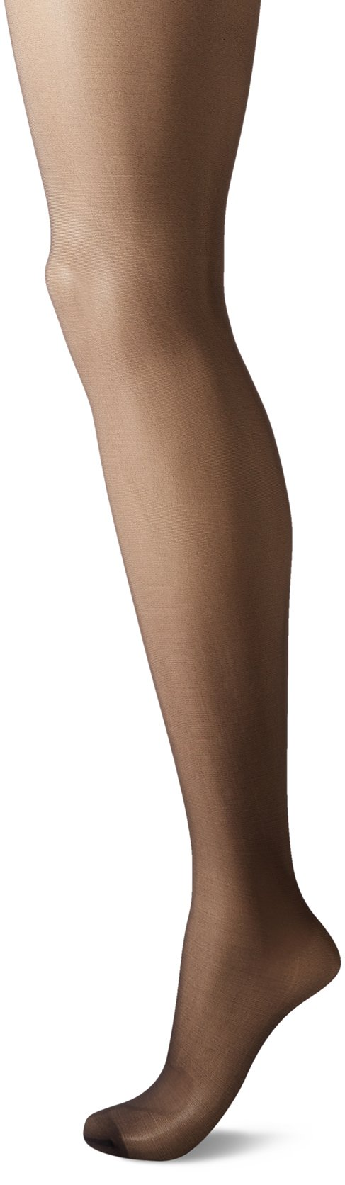 CK Women's Matte Ultra Sheer Pantyhose with Control Top, Almost Black, Size B