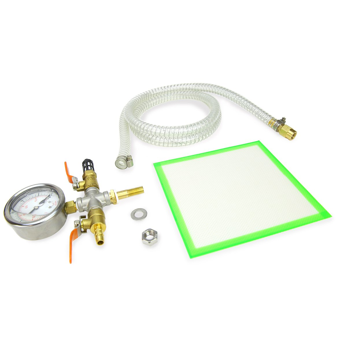 XtremepowerUS 4 CFM Single Stage Vacuum Pump 5 Gallons Chamber Kit Degass Urethanes Silicones and Epoxies