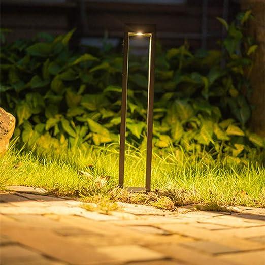 Lámpara LED simple moderna para el césped, al aire libre, nuevo diseño, columna cuadrada, aluminio, impermeable, jardín, comunidad, paisaje, iluminación, jardín, luz: Amazon.es: Iluminación