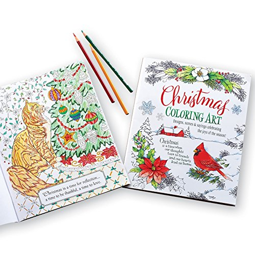 Christmas Art Adult Coloring Book Product Image