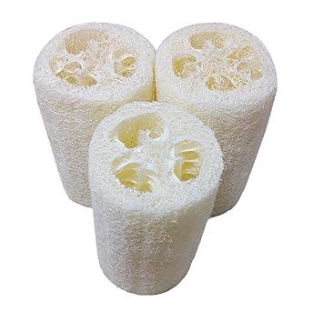 Faber3 Natural Loofah Luffa Loofa Bath Body Shower Sponge Scrubber Loofahs  Spa Exfoliating Scrubber Best Luffa