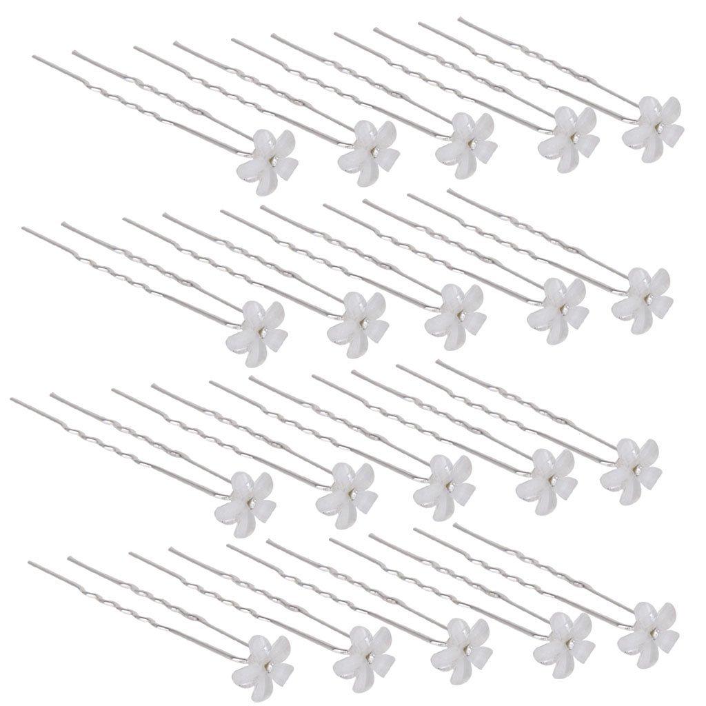 Wedding Bridal Bridesmaid Prom Flower Crystal Hair Pins Clip Headpiece Pack of 18 Generic STK0156000670