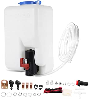 Ketofa 12V Universal Car Windshield Washer Pump Washer Bottle Kit Washer System with Pump Jet Button Switch 160186
