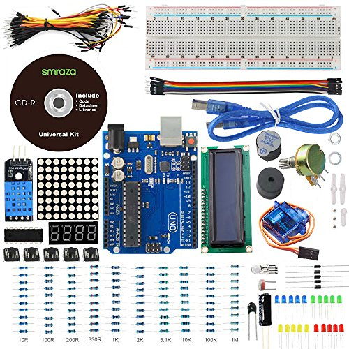 Smraza UNO Project Basic Starter Kit with UNO R3 1602 LCD and Tutorials for Arduino Mega2560 Nano Robot (Basic Robot Kits compare prices)